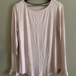 Long sleeve light pink tee🌸